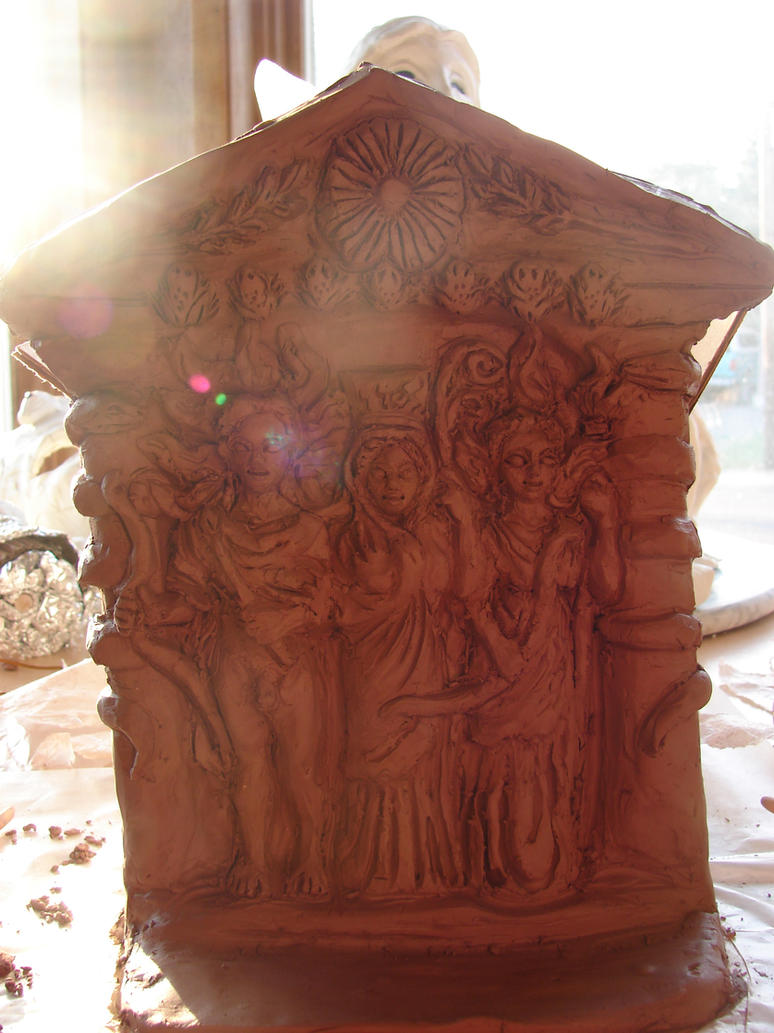 Apollon, Leto and Artemis Shrine-plaque by templeofapollon