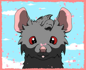 Rat In Cheery Fall