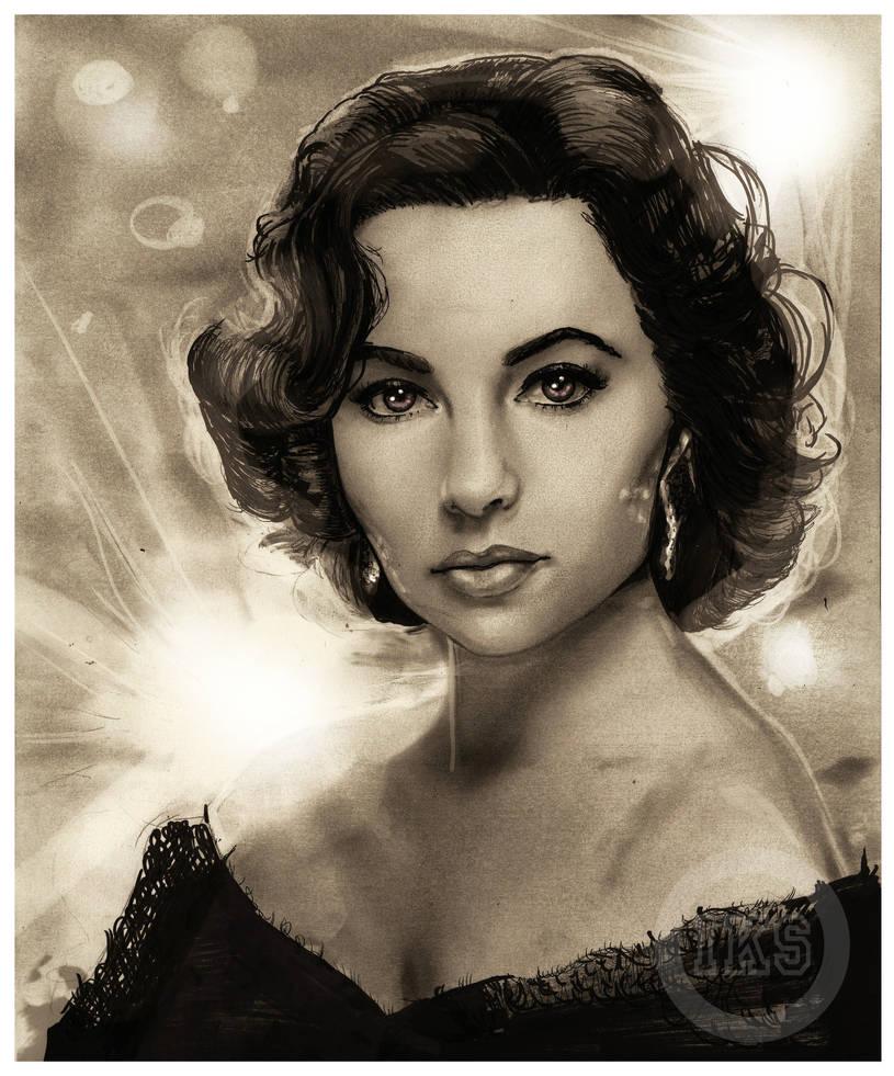 .Elizabeth Taylor by IsaiahStephens