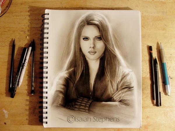 Black Widow Sketch by IsaiahStephens