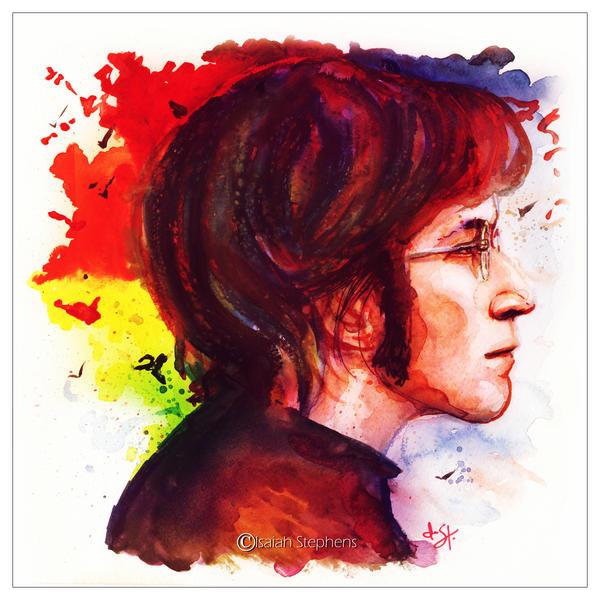 John Lennon Watercolor by IsaiahStephens