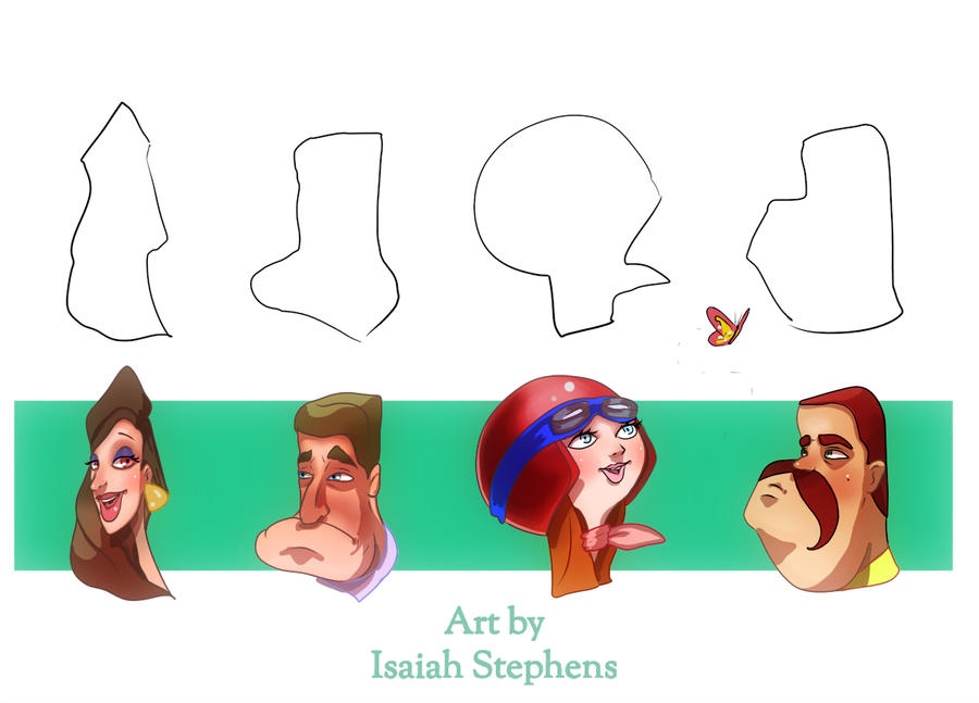 Shapes In Character Design : Design a character june shape challenge by isaiahstephens