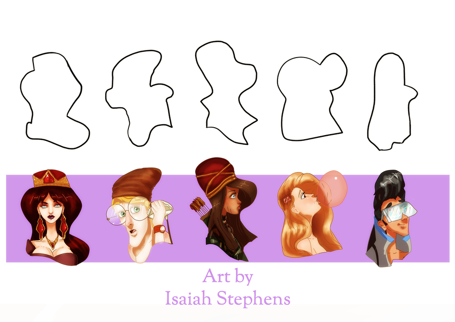Character Design Using Shapes : Design a character august shape challenge by