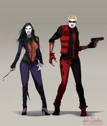 Joker Harley Quinn Genderbend by IsaiahStephens