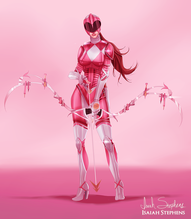 pink ranger by isaiahstephens on deviantart