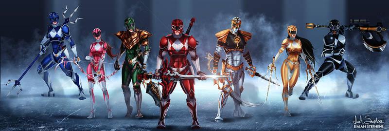 Go Go Power Rangers!! by IsaiahStephens