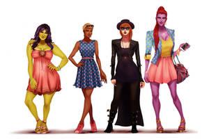 Funnie Ladies by IsaiahStephens