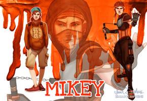 Human Ninja Turtles: Mikey by IsaiahStephens