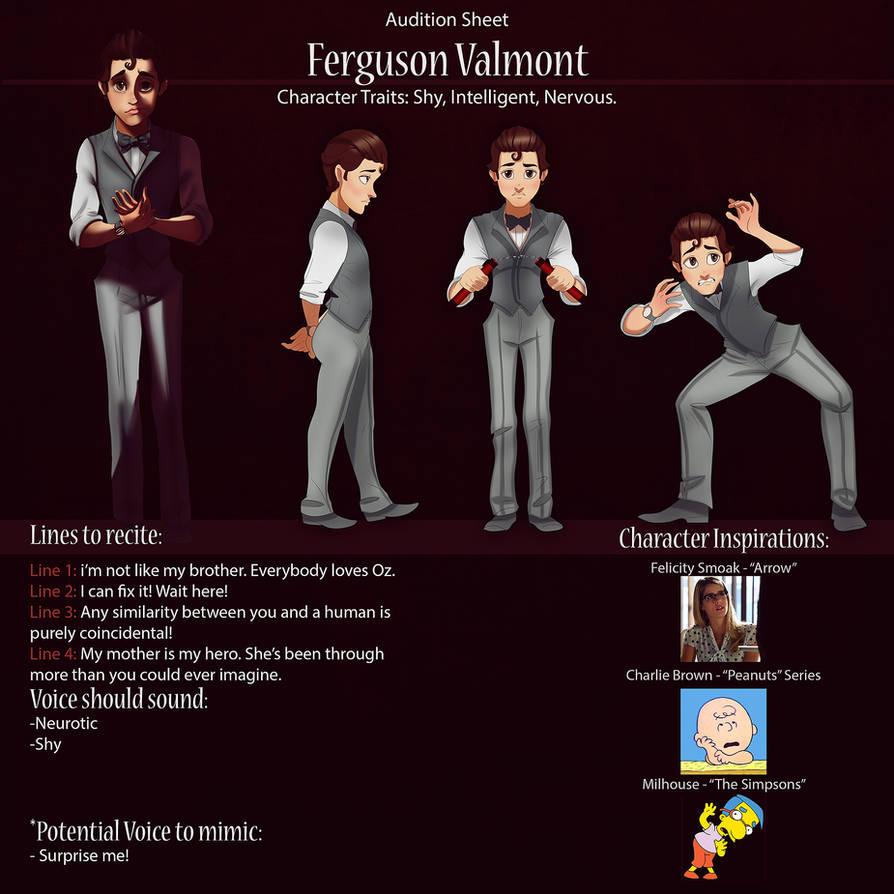 ferguson Audition Sheet by IsaiahStephens