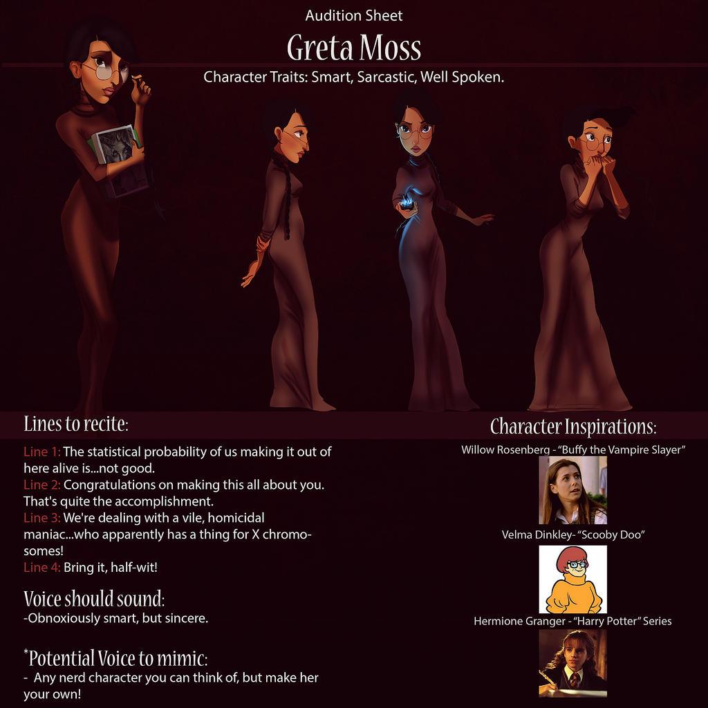 Greta Audition Sheet by IsaiahStephens
