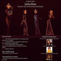 Greta Audition Sheet by IsaiahStephens