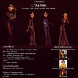 Greta Audition Sheet