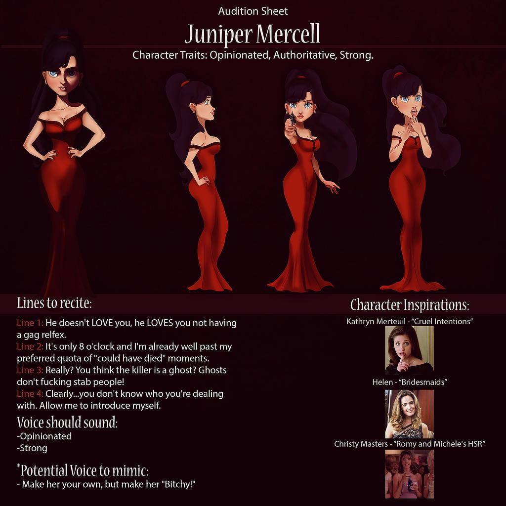 Juniper Audition Sheet by IsaiahStephens
