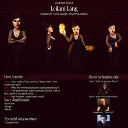 Leilani Audition Sheet