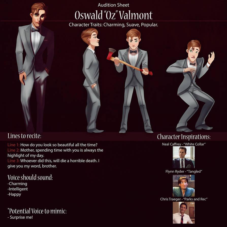 Oz Audition Sheet by IsaiahStephens