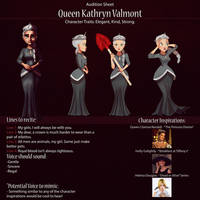 Queen Kathryn Audition Sheet