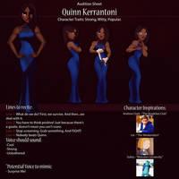 Quinn Audition Sheet