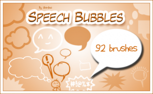 Speech bubbles brushes by analeewon