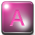 A - Pink icon