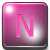N - Pink icon