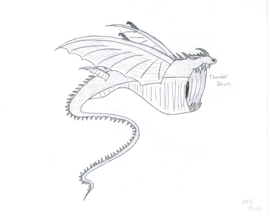 thunder drum dragon coloring pages - photo#1