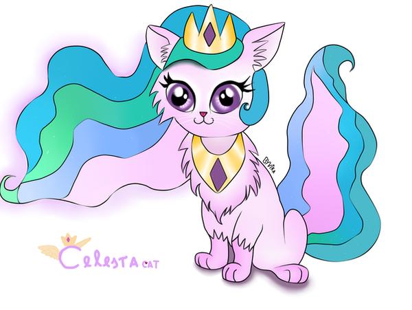 Princess Celestia cat by ByVikaWorks