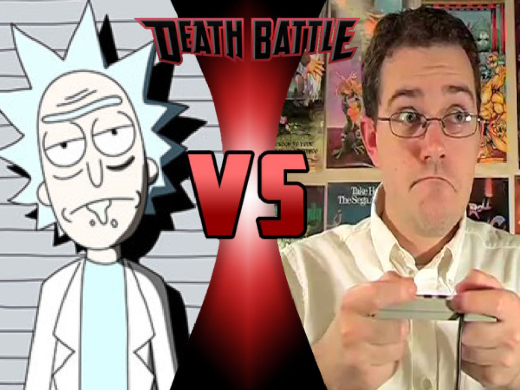 Sold Rick Sanchez Vs Angry Video Game Nerd By Brooklynguy27 On