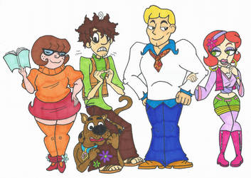 I take a whack at drawing ScoobyDoo by Abrigedfoamy