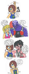 Supernoobs - Travis Freaks the Locals by Abrigedfoamy