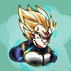 Majin Super Vegeta by NuggetsMcfly