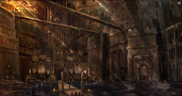 Temple of Osiris by TheArtofSaul