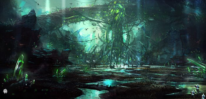 jade forest by TheArtofSaul