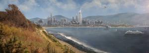 Seaside City by TheArtofSaul