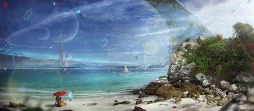 Zegema Beach by TheArtofSaul