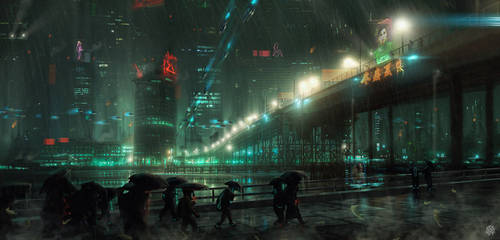 Electric Rain by TheArtofSaul