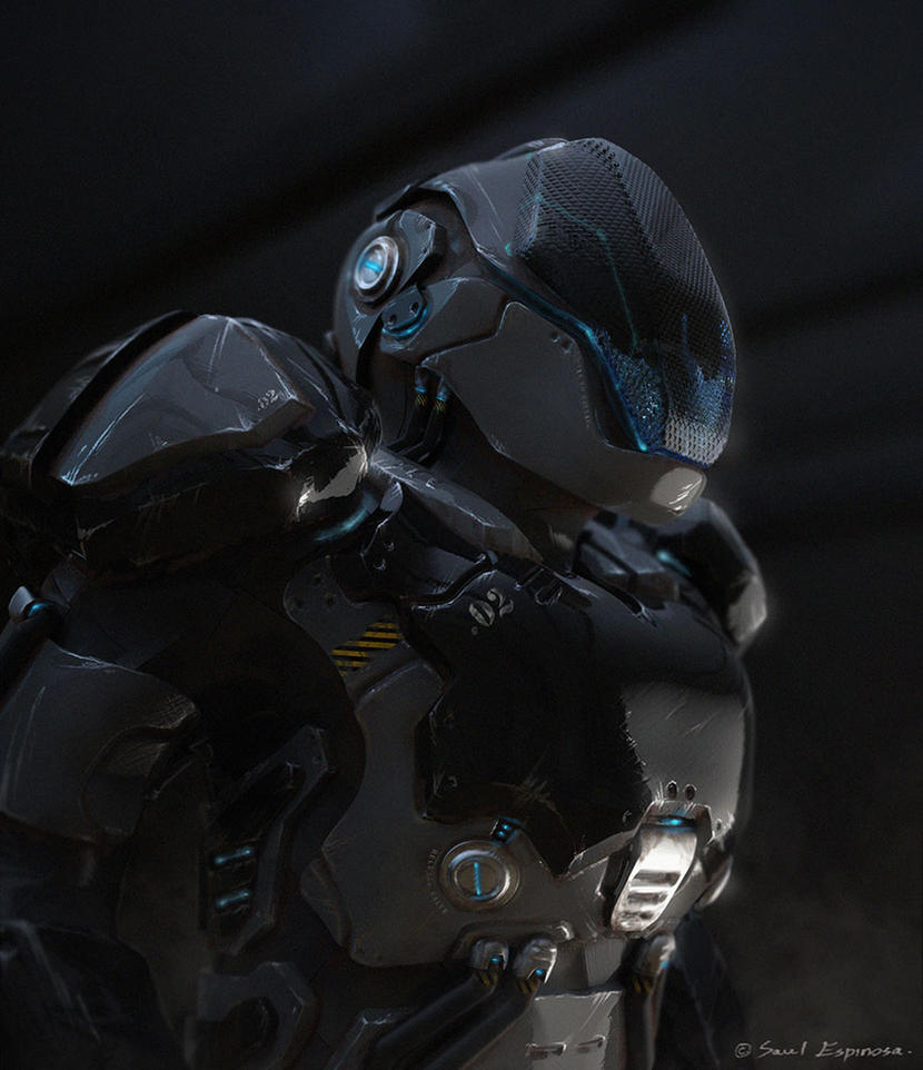 Cyborg Commando by TheArtofSaul