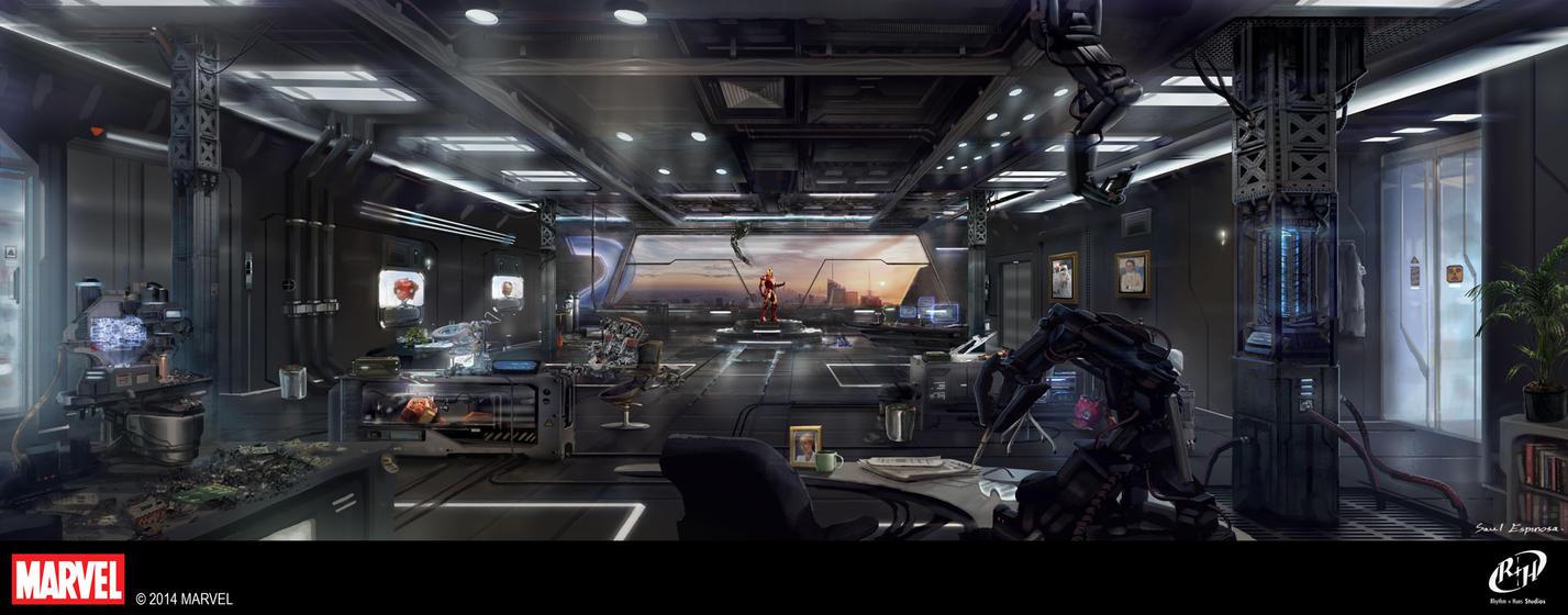 tony stark office. Tony Starks Office By TheArtofSaul Stark - DeviantArt