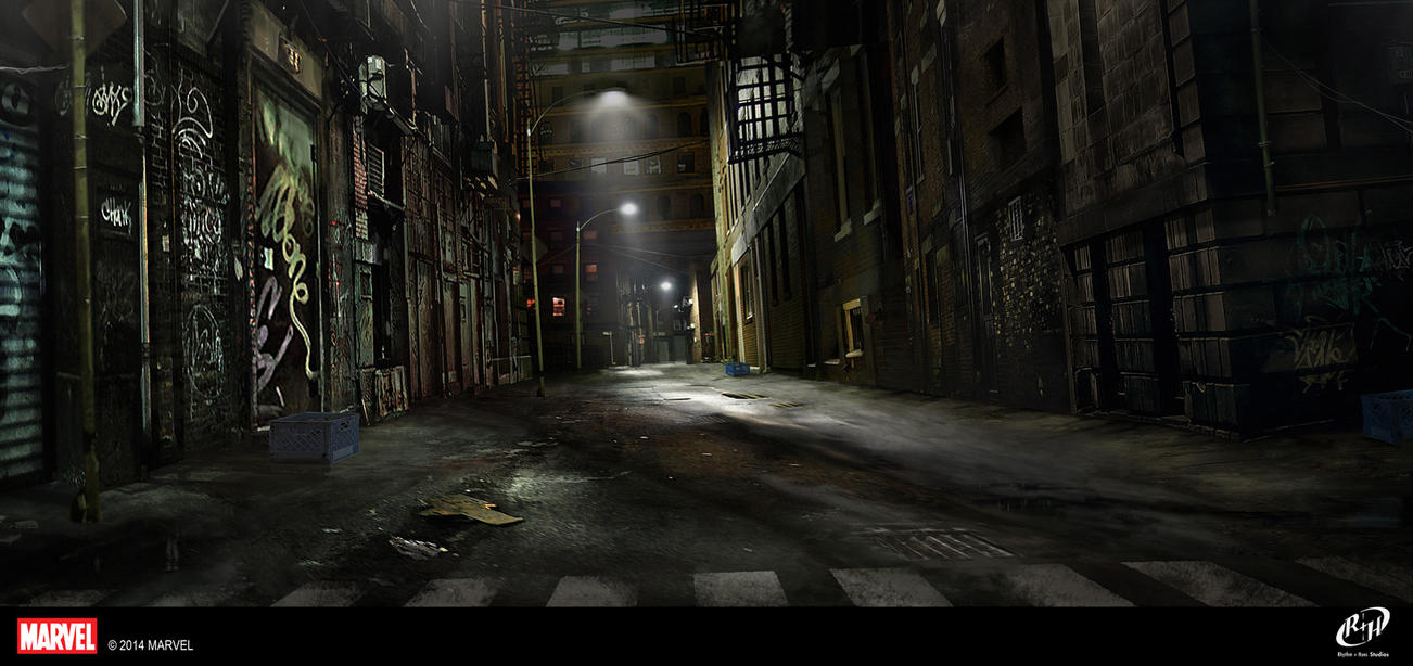 Madam Hydra Alley Matte Painting by TheArtofSaul