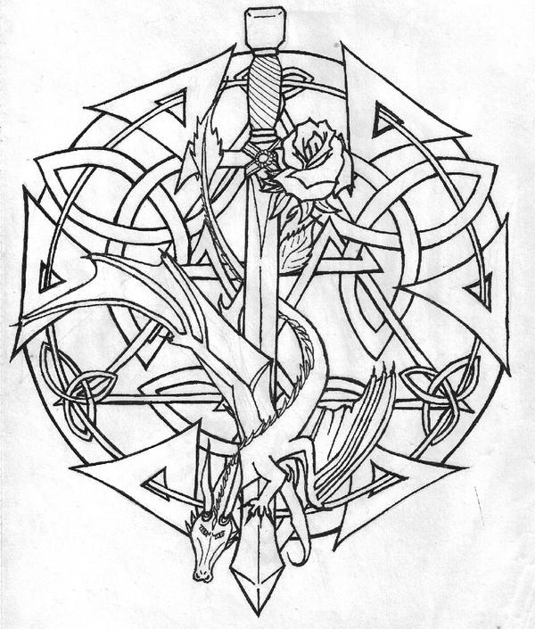Celtic line art by kitsaru on deviantart Xena coloring book