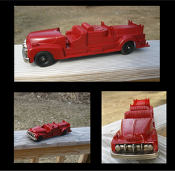 Search and Rescue - 1950's Hubley Toy Firetruck by MachiasBanshee