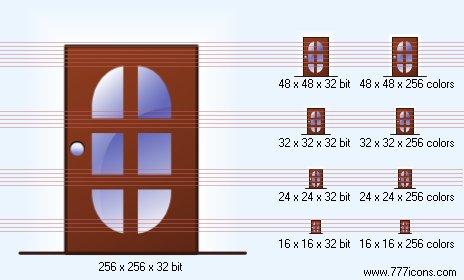 Closed door Icon by security-icon-set