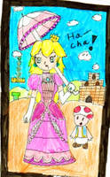 Princess Peach by Violetthehedgehog