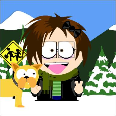 me in south park, with buffy by PiccolaGhI