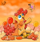 Orange candies
