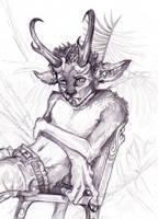 Antelope boy sketch by zirofax