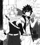 Natsu and Gray badass to the core