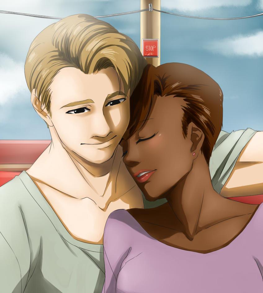 Lehman art couple interracial girl