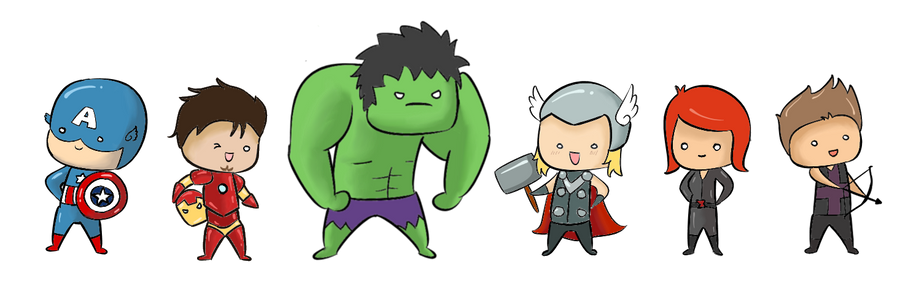 Chibi Avengers by superpsyduck on DeviantArt