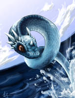 Realistic Dragonair by superpsyduck