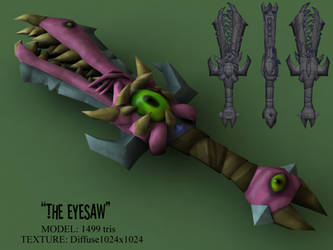 THE EYESAW (1499 tris) by BlooCoops
